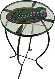 Team Sports America University of Florida Gators Logo Glass and Metal Accent Table