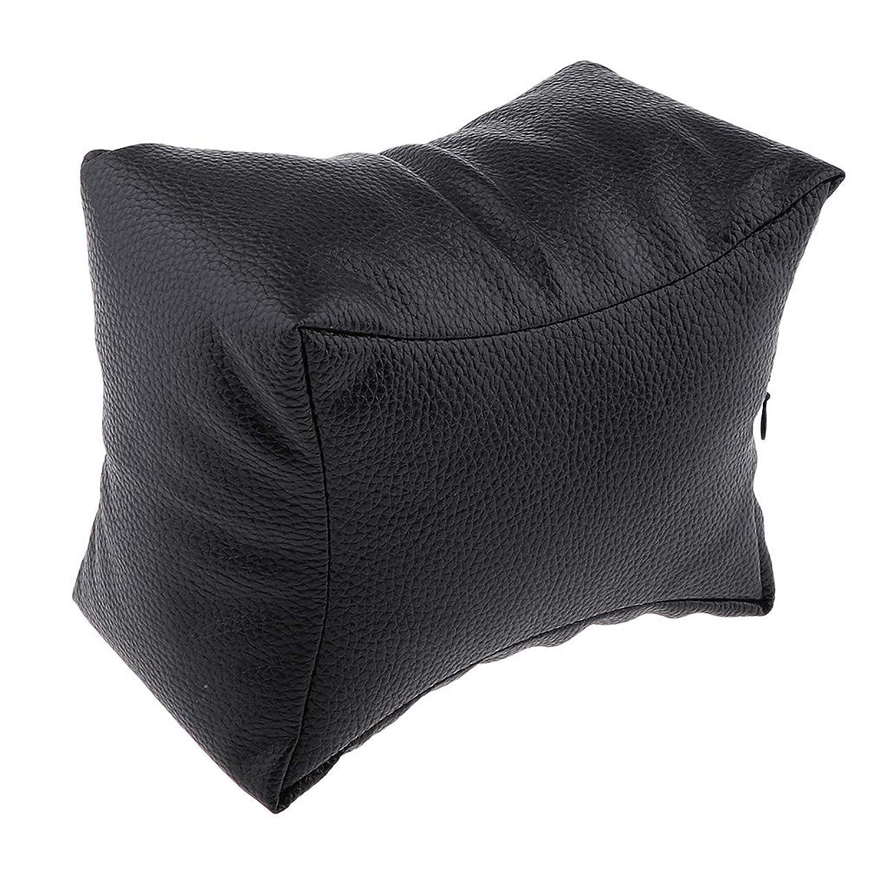 アッティカスメンテナンス見通しF Fityle ネイルアートデザイン ハンドクッション レストピロー ソフト ネイルサロン 4色選べ - ブラック