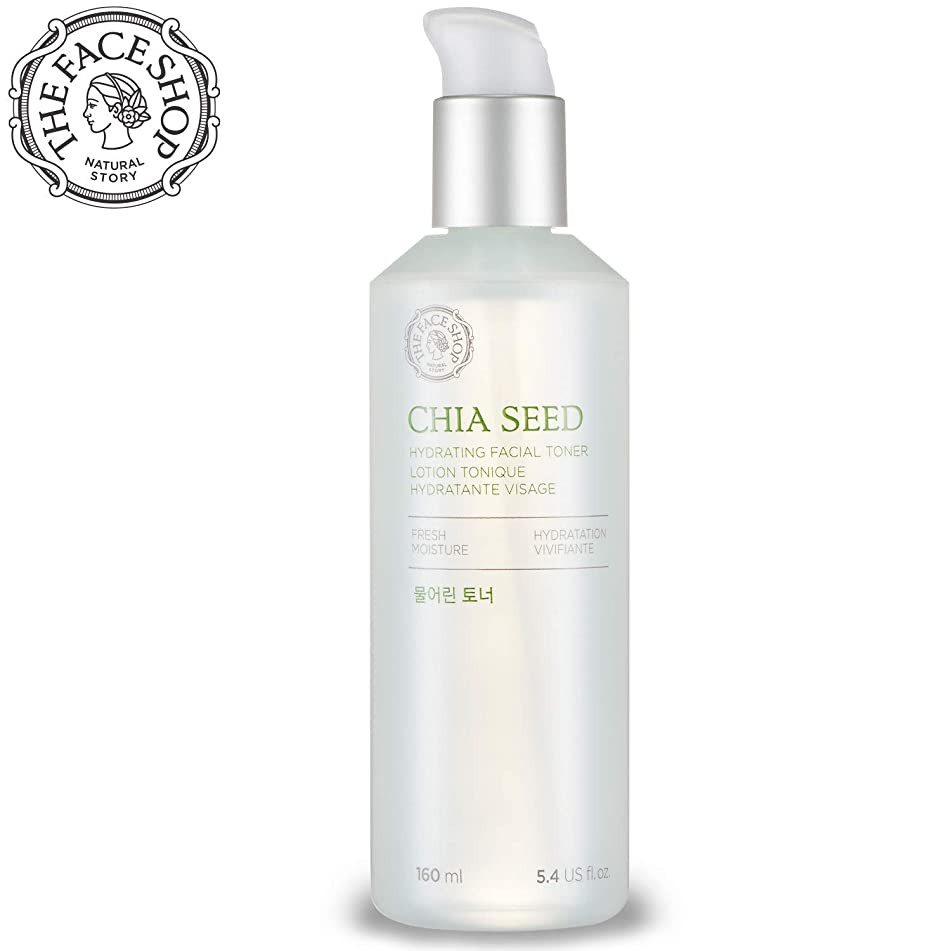 [THEFACESHOP] Chia Seed Hydrating Toner, Simple Skin Care For Normal To Oily Skin, Dermatologist Tested 145mL/4.9Oz