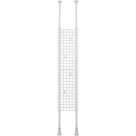 平安伸銅工業 突っ張りネット間仕切り ホワイト 幅35cm高さ200~275cm TNP-1