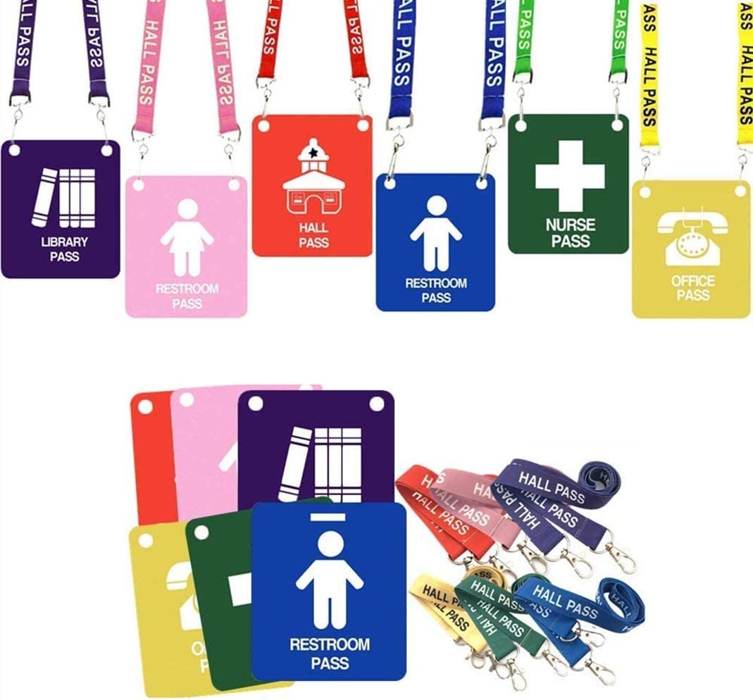 Hall Pass Lanyards with Large Unbreakable Passes Card School Sales of SALE items from new works Denver Mall Cl