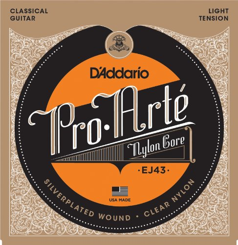 D'Addario EJ43 Pro-Arte Nylon Classical Guitar Strings, Light Tension