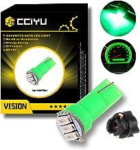cciyu 10x 74 Twist-in Instrument Panel Dash Light Green LED Bulbs PC74 Sockets T5 Kit 307 308 406 407 2721 85 86 For 2005-2011 Nissan Altima Armada Frontier Maxima Murano Sentra Titan etc