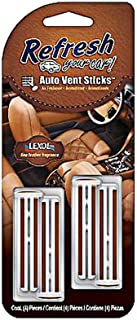 Refresh Your Car Auto Vent Sticks, 4-Pack, Fine Leather Fragrance (09480)