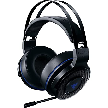Razer Thresher Stereo Headset for PC,PS4, PS5: Lag-Free Wireless Connection - Retractable Digital Microphone - Custom Sound Control Dials - 16-Hour Battery Life
