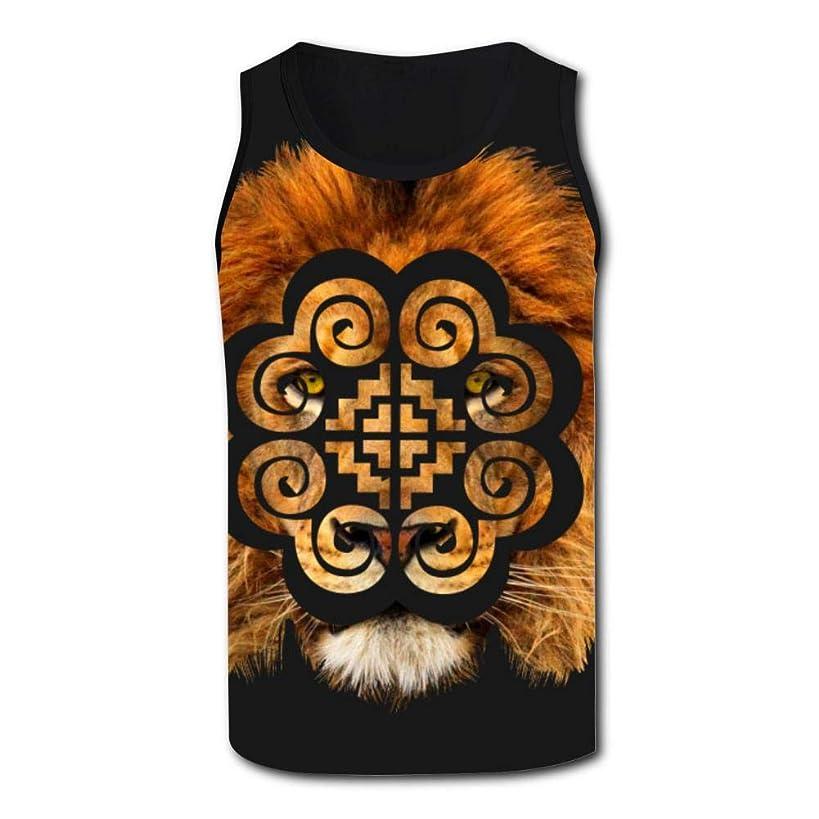 YYIL Hmoob Lion Summer Casual Fashion Loose Vest Men Comfort Tank Tops