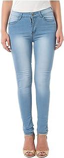 HINK Pantalones de Talla Grande, Pantalones de Mezclilla Largos con Degradado de Cintura Media Ajustados de Talla Grande p...