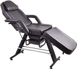 Giantex Adjustable Salon SPA Black Massage Bed Tattoo Chair Facial Table Beauty Basket