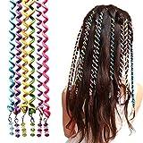 18 Pcs Élastique Tressé Bandeau, Manuka Élastiques Tresses Cheveux Hairband Tressage Mignon Cheveu Accessoire Pour Kid Fille Femme