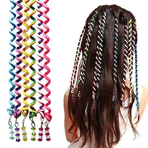 18 Pezzi Elastici Capelli Bambina,MANUKA Fiocchi Capelli Bambina Ragazze Capelli Elastico Fasce Bande Intrecciato Fermagli Bambina Carini Hair Styling Twister Clip Braider