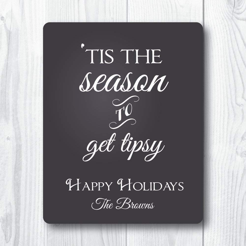 Tis the Season to Get All Some reservation stores are sold Tipsy - Wine of 4 set Labels