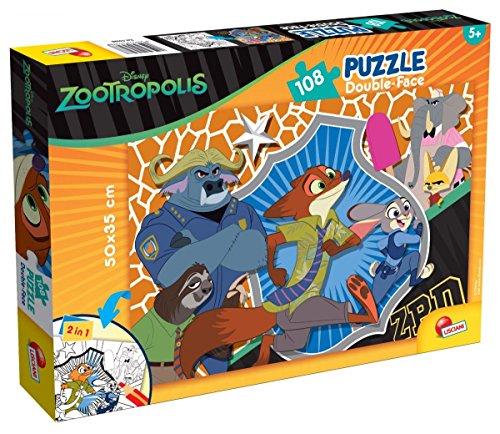Lisciani Giochi 53988Puzzle DF Plus Zootropolis, 108Piezas, Multicolor