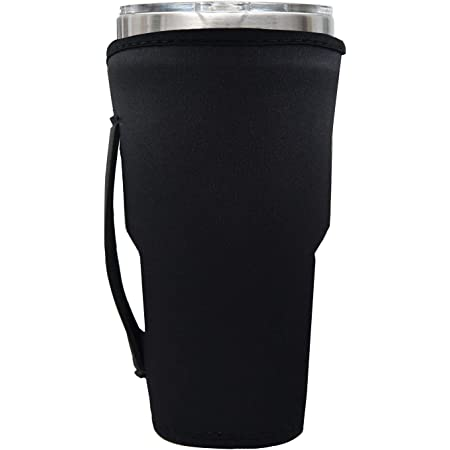 Amazon Com Tumbler Carrier Holder For 30oz 32oz Tumblers Reusable Tumbler Holder Pouch For Iced Coffee Cup Neoprene Insulated Hand Carrying Cover Sleeve Bag W Handle Adjustable Shoulder Strap Black Tumblers