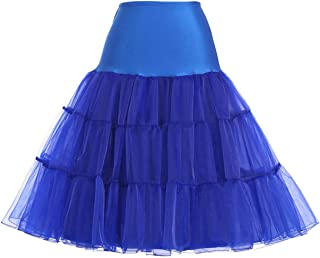 GRACE KARIN 50s Petticoat Skirt Rockabilly Dress Crinoline Underskirts for Women