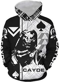 Game Cosplay Cayde 6 Hoodie Pullover Sweatshirt Zip Up Jacket for Unisex