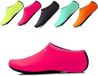 JIASUQI Kids,Womens and Mens Classic Barefoot Water Sports Skin Shoes Aqua Socks for Beach Swim Surf Yoga Exercise