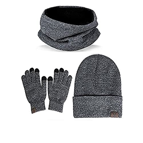 b767ab9e2be Winter Beanie Hat + Scarf + Touch Screen Gloves