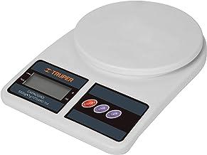 Truper BASE-5EP, Báscula digital base plástica para cocina, capacidad 5kg