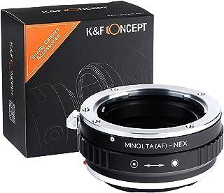 K&F Concept Minolta(AF)-NEX Adaptador Cámara Adaptador de Lente Adaptador para Objetivo para Montar la Lente Minolta(AF) al Cuerpo de la Cámara Sony NEX