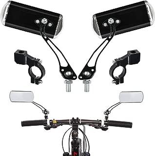 schwarz VORCOOL 2 st/ücke Fahrradspiegel Fahrrad R/ückspiegel Lenkerspiegel 360 Grad drehen f/ür Mountainbike Rennrad Roadbike Einstellbare