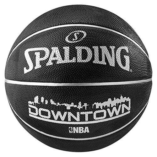 Spalding NBA Downtown Outdoor Sz.7 (83-205Z) Balón de Baloncesto, Negro, 7