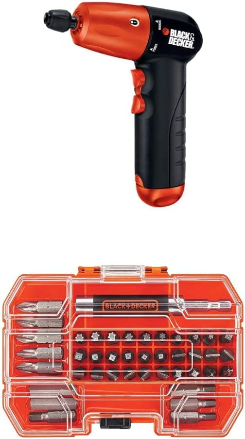 BLACK+DECKER Powered Screwdriver 6-Volt Hex Electric Cordless Brushed Power Tool