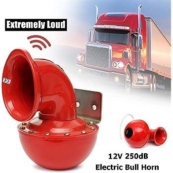 300db 12v Elektrische Lufthupe Lauter Geräuschersatz Motorrad Auto Lkw Boot Universal Schneckenhorn Auto