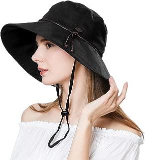 UV50 Foldable Sunhat Women Ponytail Hole Safari Beach Fishing Bucket Hat 55-61CM