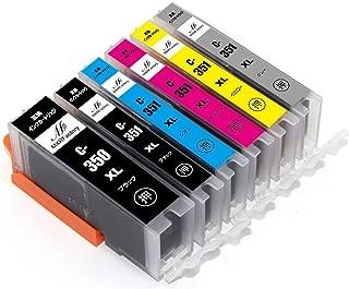 キヤノンインクカートリッジ351 canonインク351 互換インク BCI-351XL+BCI-350XL 6色マルチパック 大容量 1年保証 ICチップ残量表示 MXRFactory