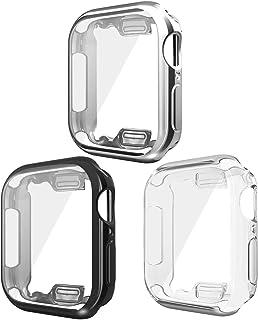 جرابات UNPAD لسلسلة ساعة Apple Watch 6 SE 5 4 40 مم، جراب واقٍ كامل ناعم من مادة TPU عالية الدقة فائق النحافة لهواتف iWatc...