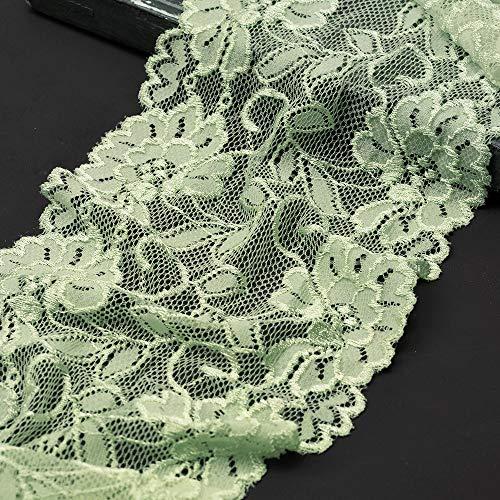 6' Elastic Stretch Raschel Lace Trim by 1 Yard, SEE-SL-0415 (Lime Fizz)