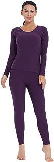 Amorbella Women's Ultra Soft Thermal Underwear Set Cotton Long Johns Base Layer Fleece Lined S-XXL