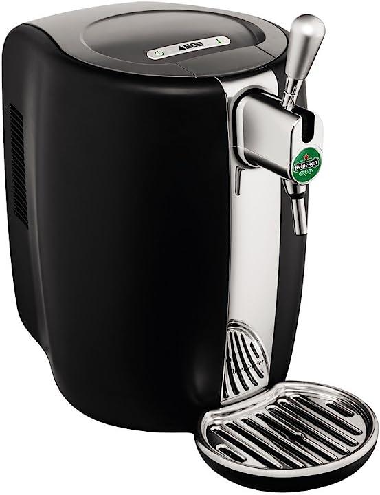 Spillatore di birra in materiale termoplastico taglia unica nero/inox krups beertender ?VB310E10
