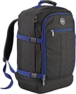 Backpack Flight Approved Carry On Bag Massive 44 litre Travel Hand Luggage 55x40x20 cm (Black/Navy)