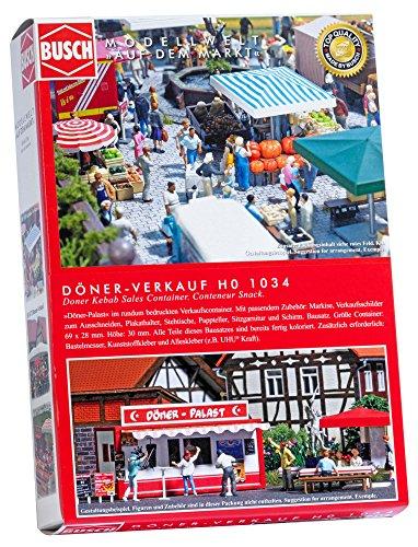 Busch-1034 Doner Kebab Sales Center Ho Structure du modèle à l'échelle :, 1034