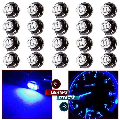 cciyu 20 Pack Blue T4/T4.2 Neo Wedge 3LED Climate Control Light Bulbs Replacement fit for 1996-1999 Dodge Caravan 1998-2001 Acura Integra 2004-2011 Chevrolet Colorado