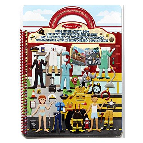 Melissa & Doug 19426 Aktivitätenbuch mit wiederverwendbaren Gummistickern - Coole Berufe (101 Sticker)