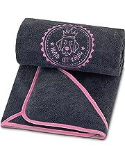 HUND IST KÖNIG Ręcznik dla psów premium, bardzo chłonny, ultra miękki i puszysty, ręcznik dla psów z wydajnej mikrofibry z 4 kieszeniami, można prać w temperaturze 60°, szybkoschnący, 130 x 75 cm