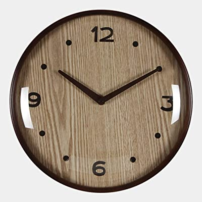 Wall Clocks Wall Clock Silent Non-Ticking Sweep Movement Wood Decorative for Kitchen Living Room