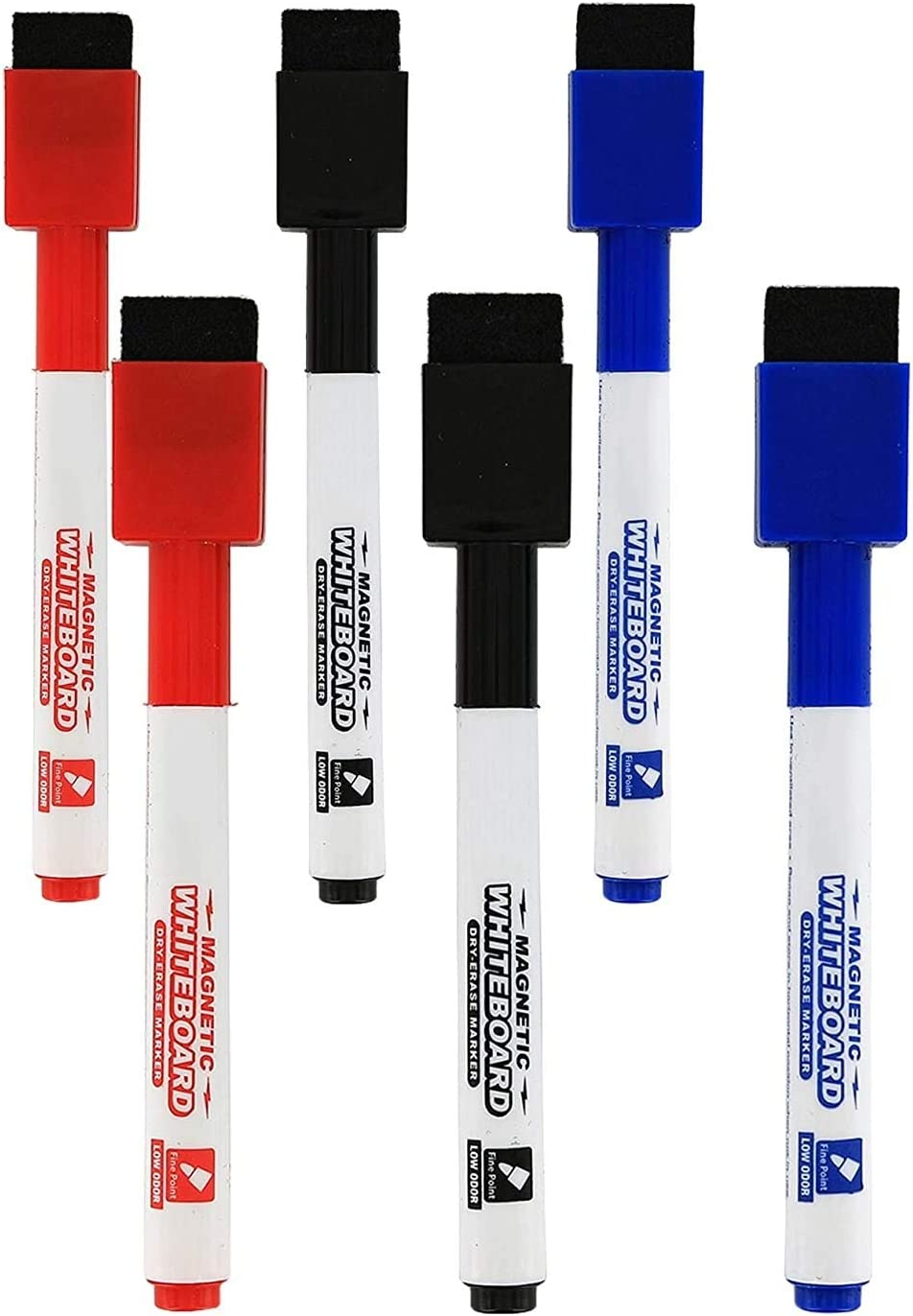 Magnetic Max 86% OFF Dry El Paso Mall Erase Markers Whiteboard Point Assorted Fine Colors