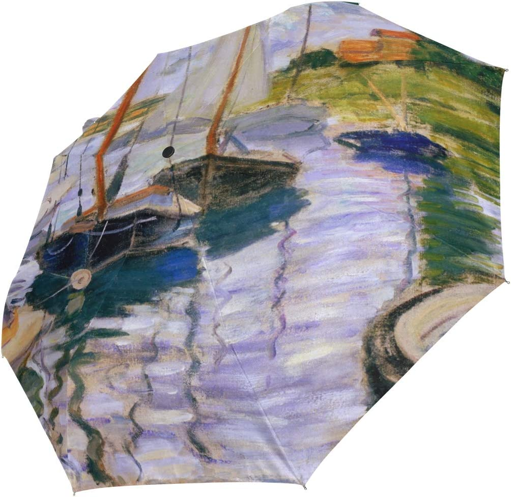 Auto Open Close Travel Umbrella Monet's Seine The Oil Jacksonville Mall Painti Denver Mall By