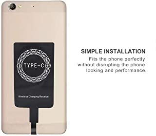 MXECO Type C Portable Type C Port Qi Wireless Charger Receiver Lightweight Charging Adapter Pad Coil