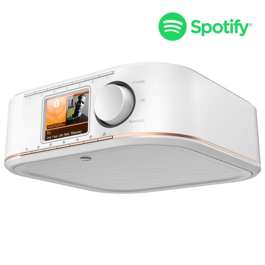 Hama Internetradio Küchenradio Unterbau (Streaming Spotify, unterbaufähig,  200,200 Zoll Farbdisplay, WiFi/WLAN, 200 Weckzeiten, Multiroom, Klemmmontage ohne