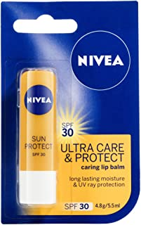 NIVEA Lip Balm Ultra Care & Protect SPF30, 4.8g