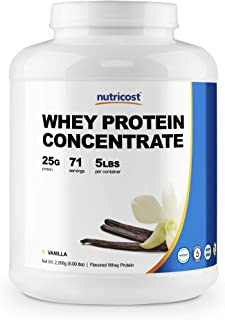 Nutricost Whey Protein Concentrate (Vanilla) 5LBS