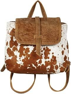 Myra Bag Leather Flap Cowhide Backpack S-1216