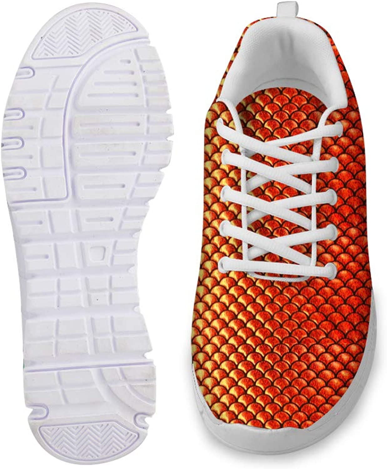 Owaheson Lace-up Sneaker Training shoes Mens Womens Python Flame gold Scales