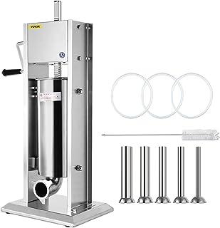 VEVOR Machine à Saucisses Manuelle 5L à étouffer les saucisses Poussoir Saucisses adopte un réservoir en acier inox 304 po...