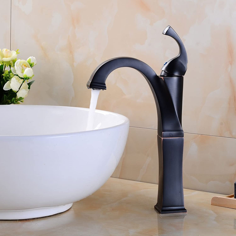 ZXY Bathroom Sink Taps Bathroom single hole basin faucet European antique single handle hot and cold mixing faucet copper faucet