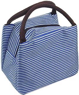 Wultia - Bags for WAMEN Striped Cold Storage Bags Thick Lunch Bag Lunch Bag Bolsa Feminina Blue
